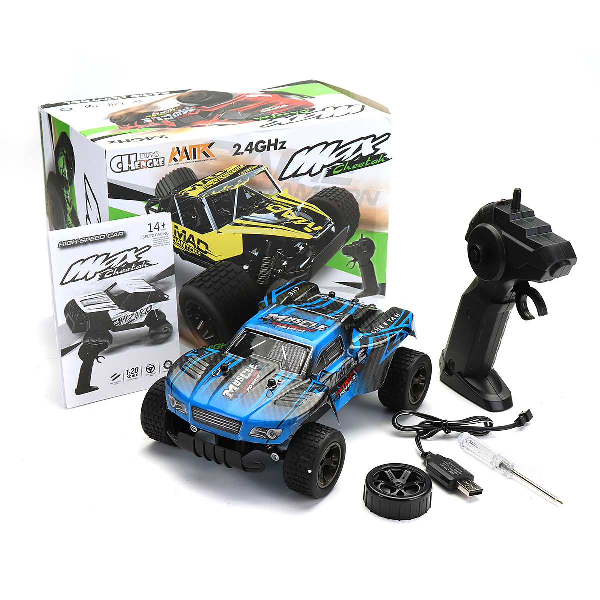 1:20 2.4GHz 4WD High Speed Radio Fast Remote Control RC Car Off-Road Monster Truck RTR Toy For Children Gift