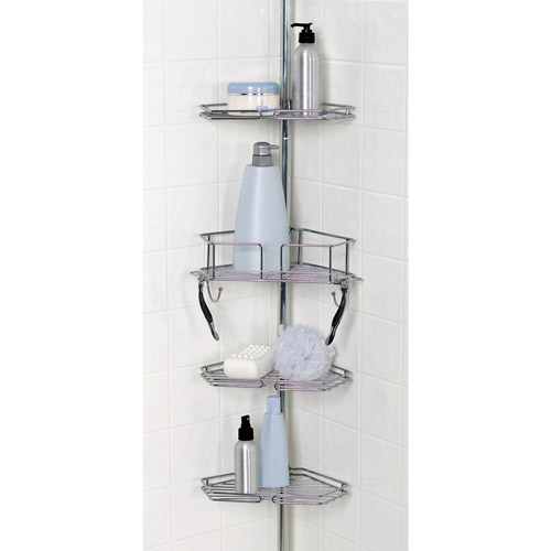 zenith twist tight shower caddy chrome