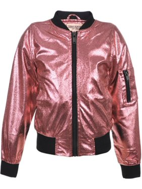 e83702b5f59 Product Image Urban Republic Girls Fuchsia Metalic Faux Snakeskin Flight  Jacket