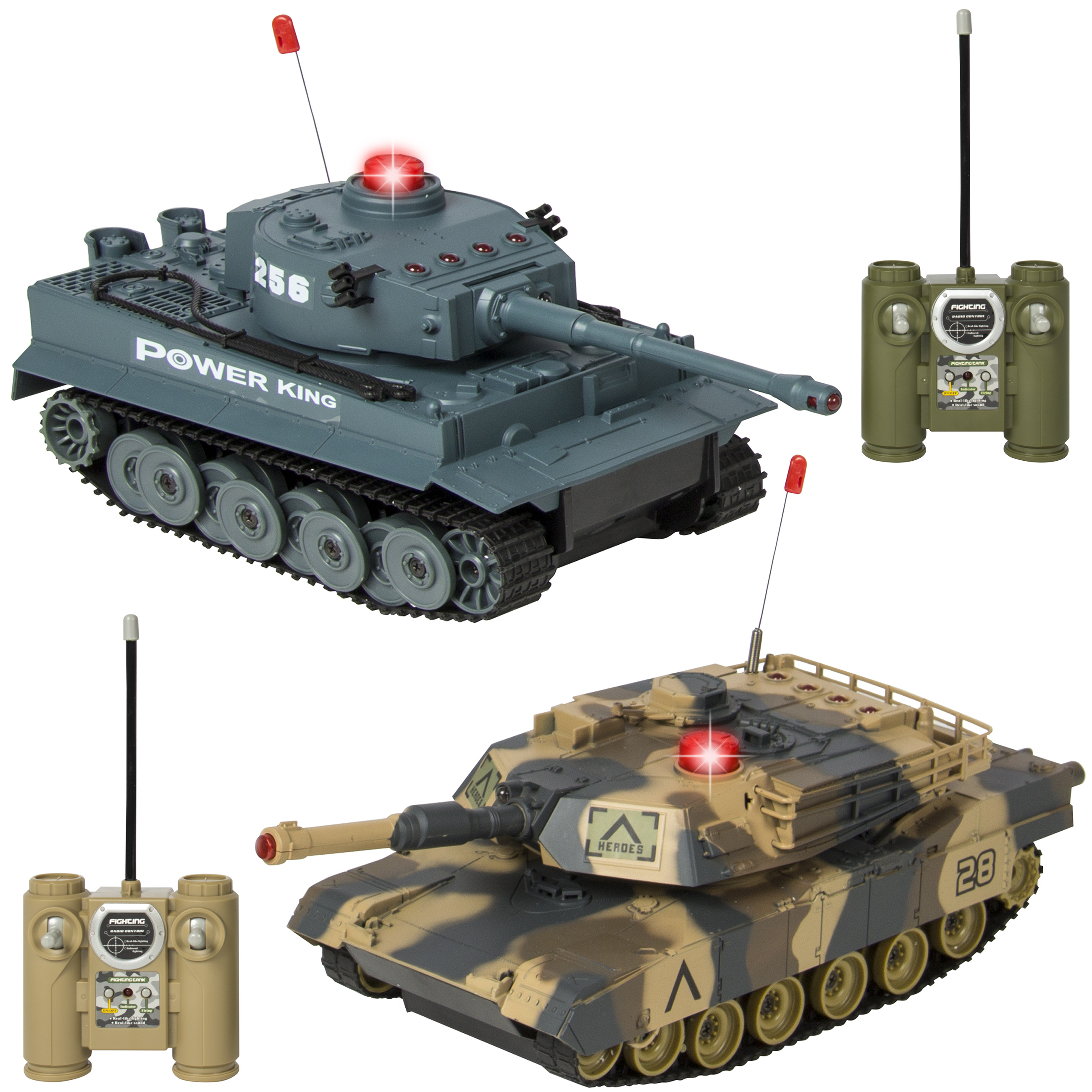 Best Choice Products RC Remote Control Battling Tanks Set of 2 Full Size Infrared