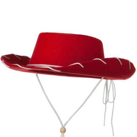 Child Western Jessie Style Kids Cowboy Ranch Hat Red Woody Wild West - Cowboy Woody Costume