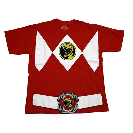 Power Rangers Adult Red Ranger Costume T-Shirt - Power Rangers Outfits Adults