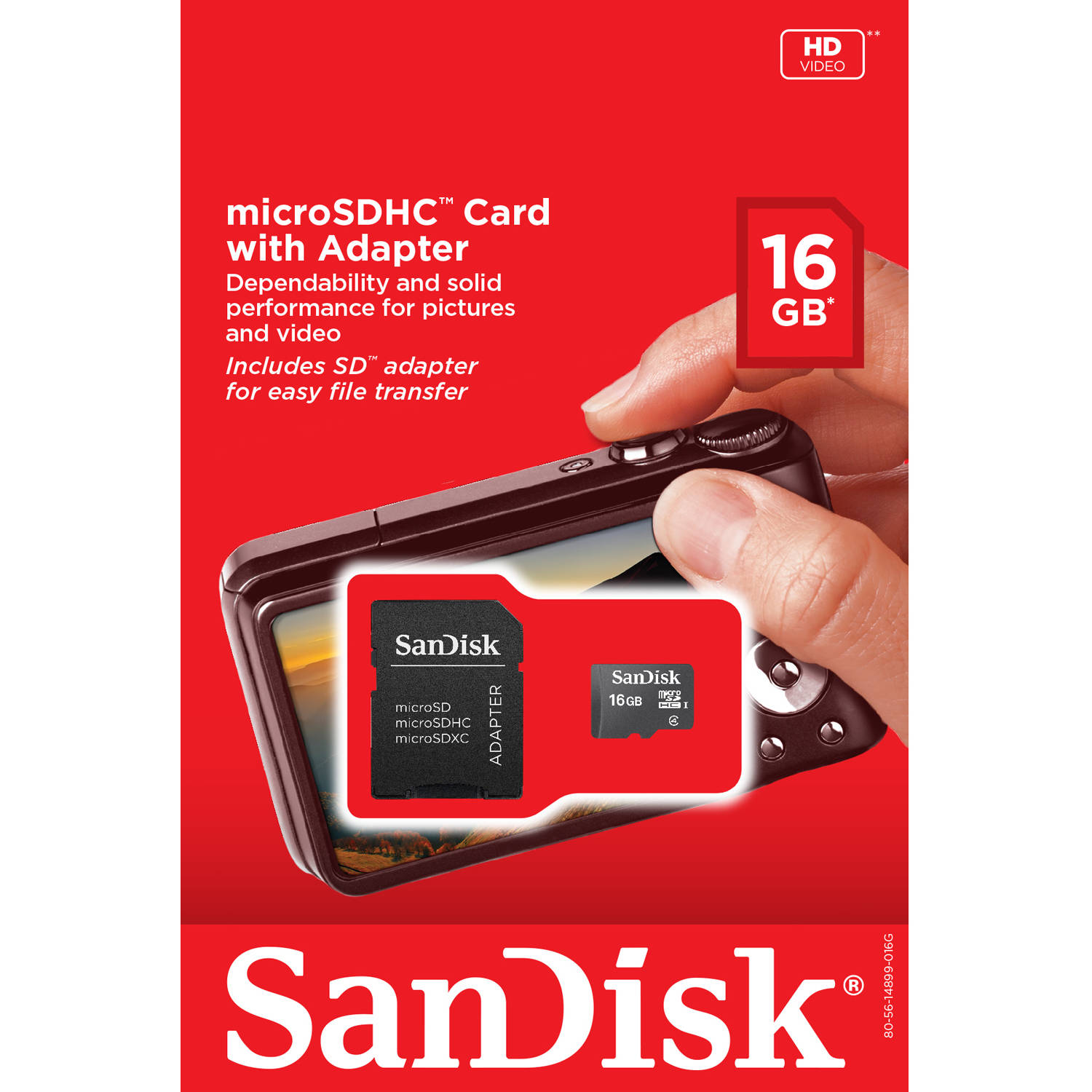 SanDisk Ultra 16GB Ultra Micro SDHC UHS-I/Class 4 Card with Adapter