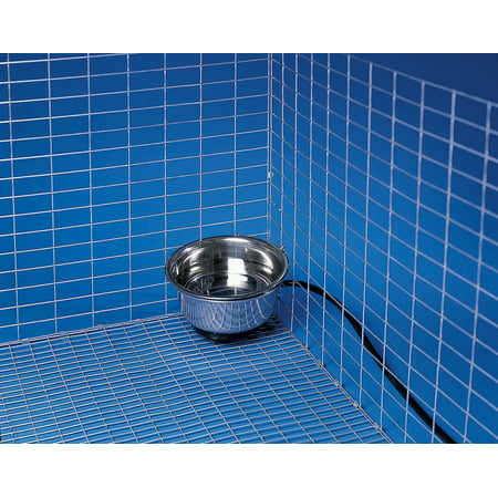 Allied Precision 90 1 qt Stainless Steel Heated Pet Bowl with Hutch Mount ()