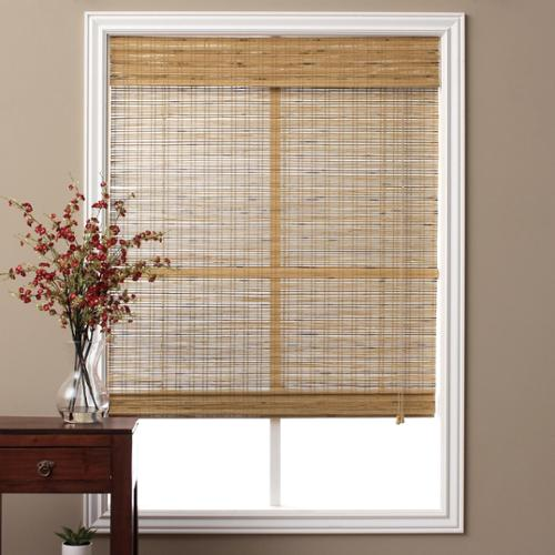 Arlo Blinds Tuscan Bamboo 98 Inch Long Roman Shade