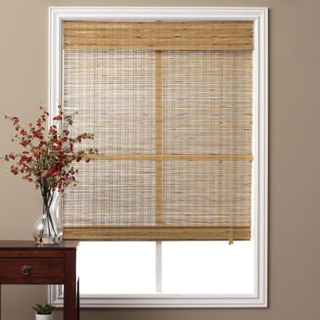 Arlo blinds tuscan bamboo 98 inch long roman shade for Roman blinds for large windows