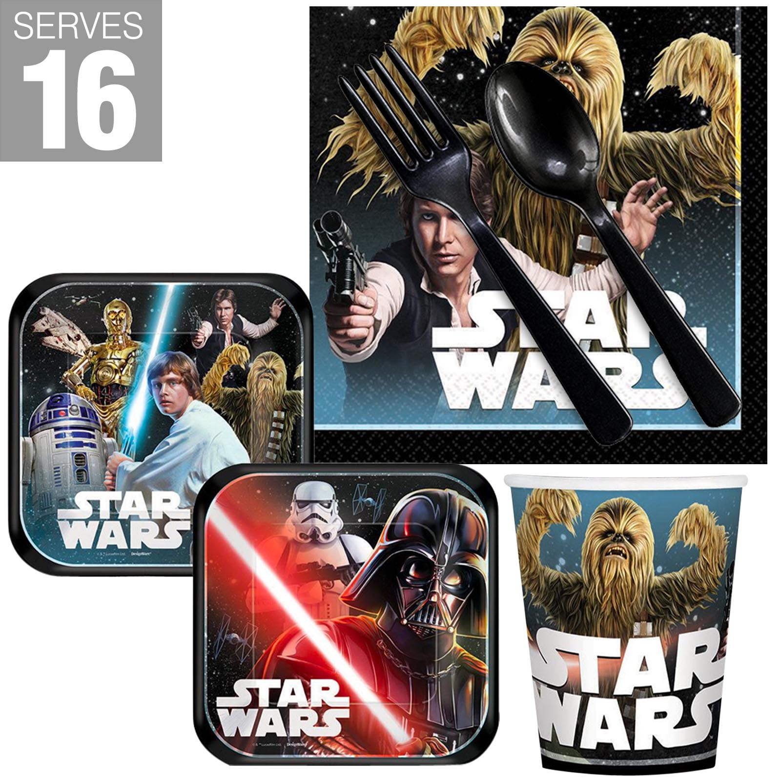 Star Wars Classic Snack Pack For 16