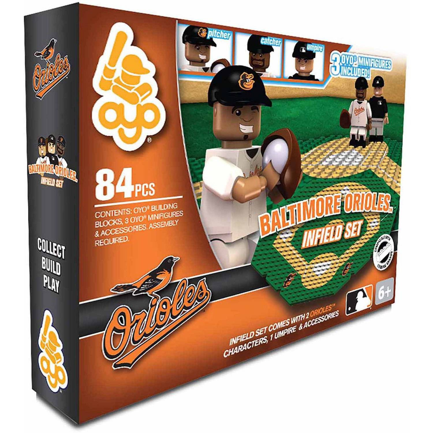 OYO Sports MLB Infield 84-Piece Building Block Set, Baltimore Orioles