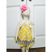Olie YCHEV114601 Yellow Chevron Swing Top, Newborn - 6 Months