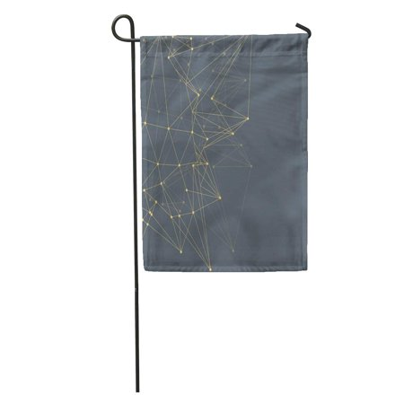 POGLIP Abstract Triangles Space Low Poly Dark Grey Connecting Dots Garden Flag Decorative Flag House Banner 28x40 inch - image 1 of 2