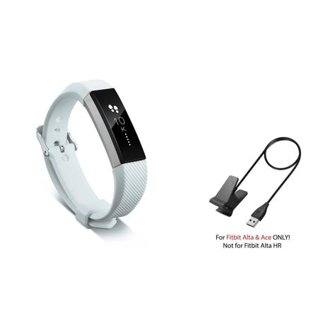 Fitbit Alta / Ace Band by Zodaca Replacement Band Wrist Band and Fitbit  Alta / Ace Charger Cable Charging Cord Accessory Bundle for Fitbit Alta /  Ace