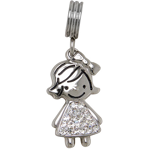 Connections from Hallmark Stainless-Steel Crystal Birthstone Girl Charm