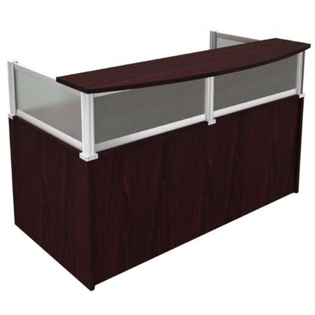 Boss Office Products Mocha Plexiglass Reception Desk