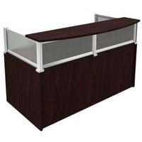 Boss Office Products Mocha Plexiglass Reception Desk