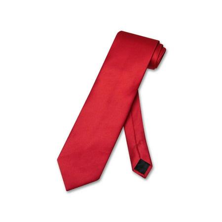 Red Tire (Vesuvio Napoli NeckTie Solid RED Color Men's Neck)