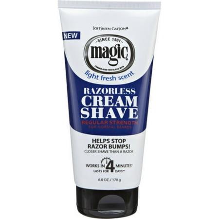 - Magic Shave Razorless Cream Shave, Light Fresh Scent, Regular Strength 6 oz