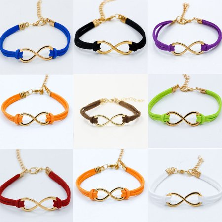 Girl12Queen Women Fashion Faux Leather Twist Gold Plated Bracelet Bangle Charm Cuff Jewelry - Gold Bracelet Charms