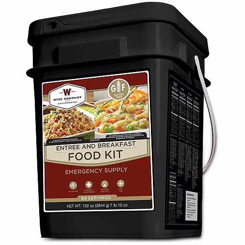 Wise Gluten Free 84 Serving Emergency Freeze Dried Entrees
