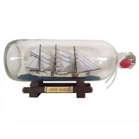 "USCG Eagle Ship In A Bottle 9"" - Decorative Ship In A Bottle - Nautical Decor"