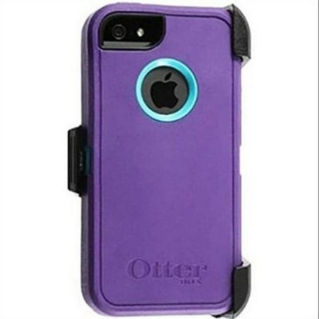 huge discount ee9de 4ad80 OtterBox Defender Series Case for iPhone 5 with Belt Clip - Purple / Teal