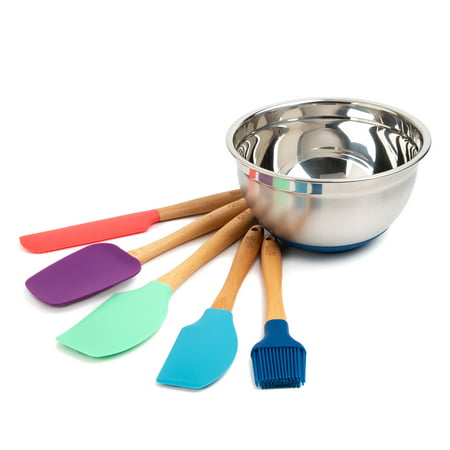 Thyme and Table 6-Piece Kitchen Utensil and Mixing Bowl Set (Mincing Set)