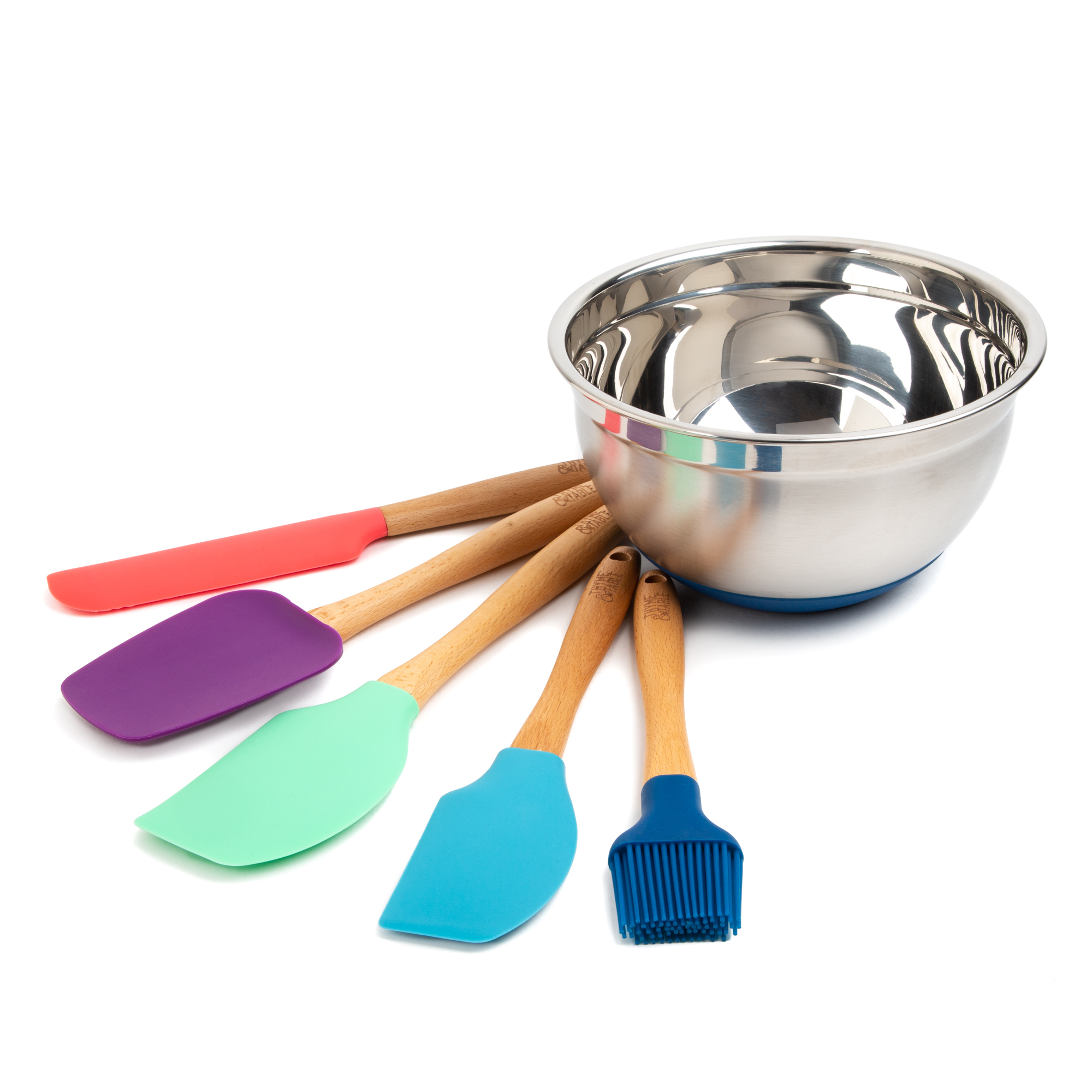 Thyme and Table 6-Piece Kitchen Utensil and Mixing Bowl Set