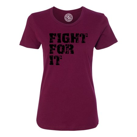 Fight For it Workout Apparel Womens Graphic Tees Short Sleeve - 70s Clothing For Sale