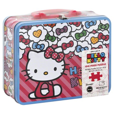 d6dd4f77b Hello Kitty: Poodle & Hat Box 100 piece puzzle in Lunch Box Tin ...