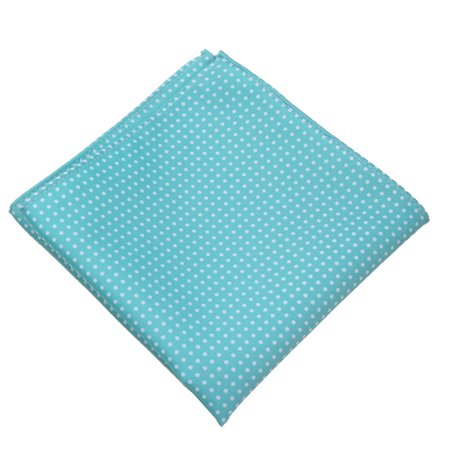 Mens Polka Dot Pocket Square Hanky Accessory - Aqua