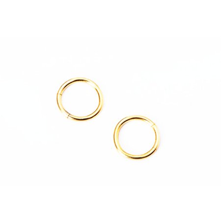 Nose Ring Piercing Hoop Ear Cartilage Fake Earrings Clip Seamless Steel