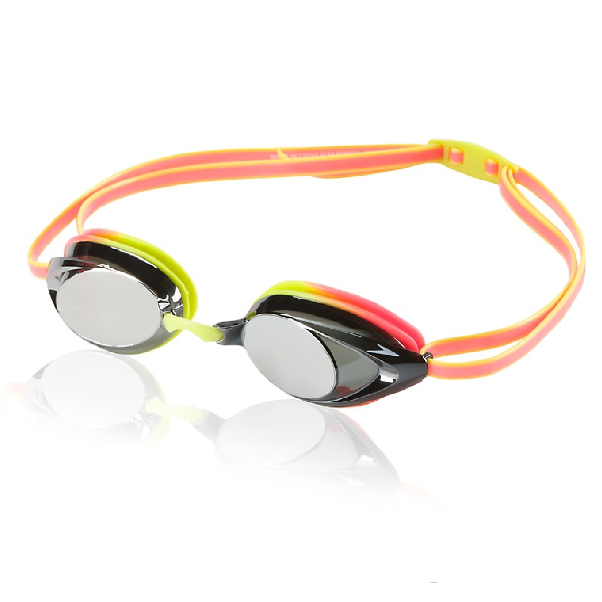 Speedo Vanquisher 2.0 Mirrored Anti-Fog Swim Swimming Pool Goggle - Citrus Green