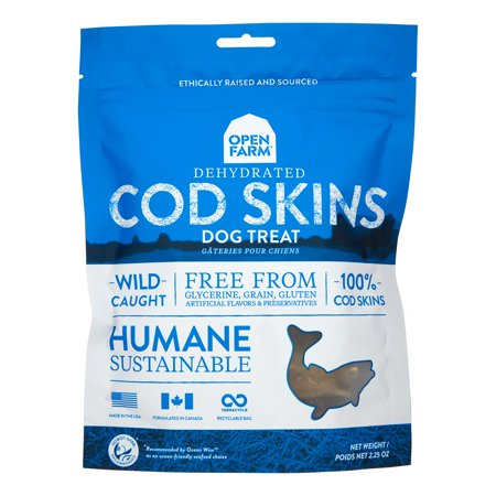 Open Farm Grain-Free Cod Skins Dehydrated Dog Treats, 4.5