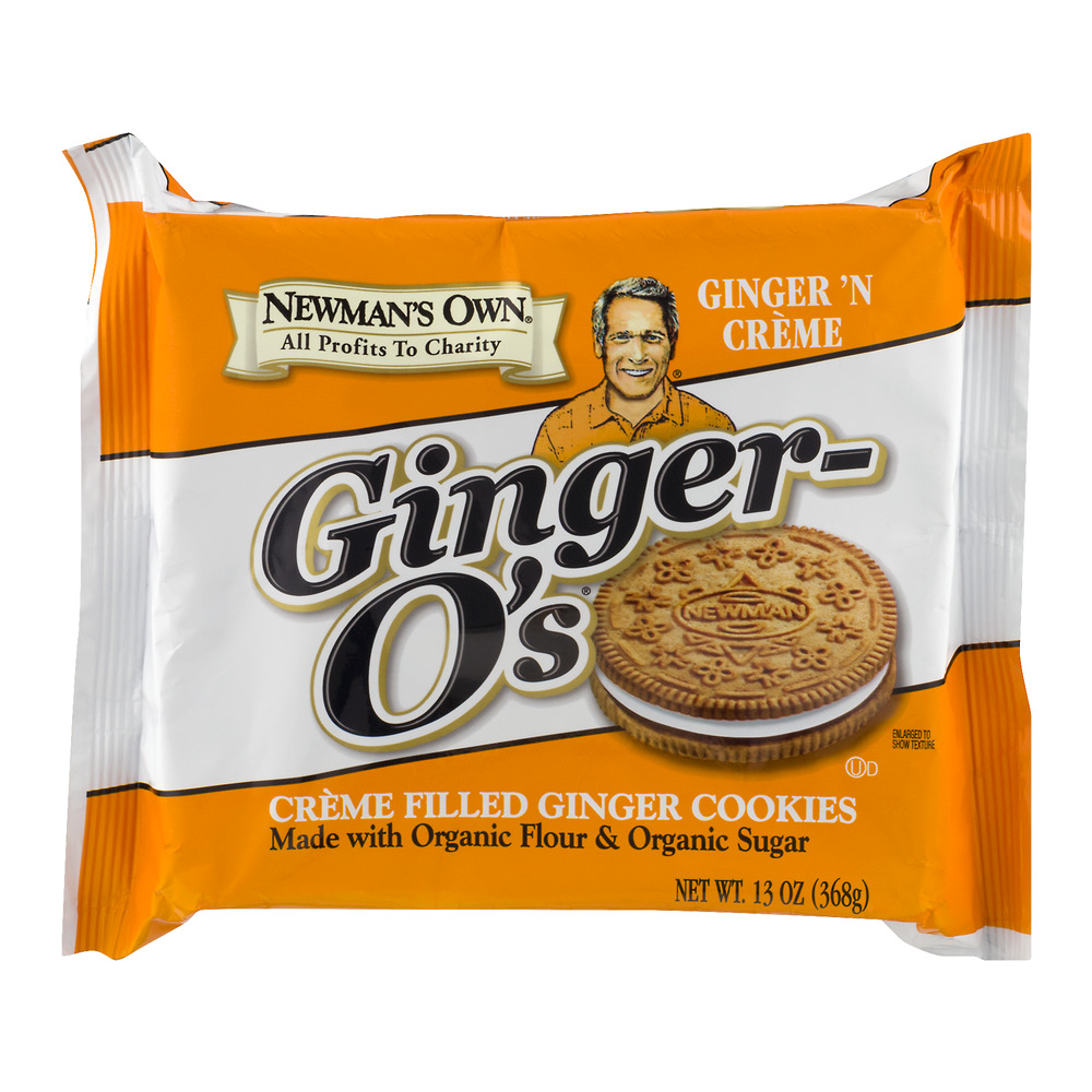 Newman's Own Organics Ginger-O's Ginger 'N Creme Filled Ginger Cookies, 13.0 OZ