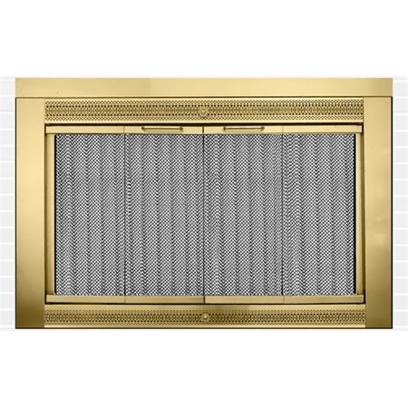Classic Fireplace Doors, Antique Brass - 47 lbs