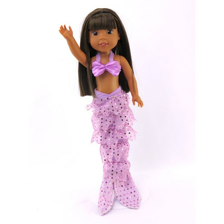 Lavender Mermaid Halloween Costume| Fits 14
