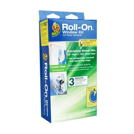 Duck Roll-On Window Kit, Fits 3 Standard Windows,