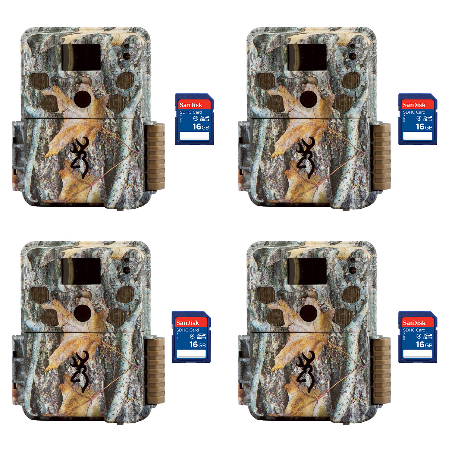 Browning Trail Cameras Strike Force Pro 18MP Game Cameras, 4 Pack + 8GB SD Cards by Browning Trail Cameras