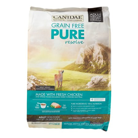 Canidae Pure Resolve Grain-Free Weight Management Formula Fresh Chicken Dry Dog Food, 24