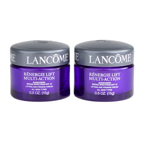 Lancome Renergie Lift Multi-Action Lifting & Firming Cream Spf15, Travel Size 1oz/30g, Set of 2 (0.5oz/15g