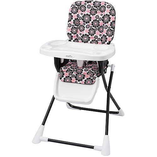 evenflo compact fold high chair penelope walmart
