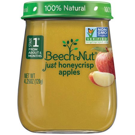 Beech-Nut Just Honeycrisp Apple Stage 1 Baby Food, 4.25