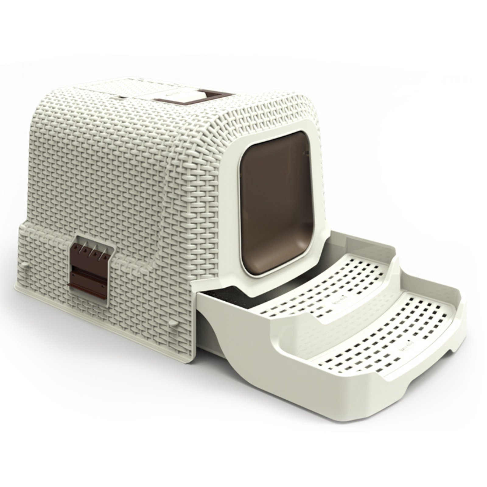 Iconic Pet Kittyklean Litter Box With Rattan Finish Walmart Com