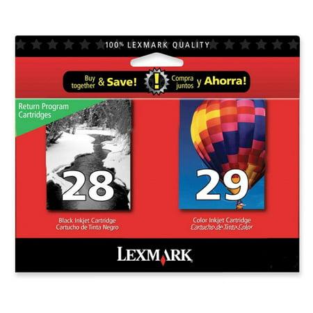 12a1980 Lexmark Cartridge - Lexmark 28/29 Ink Cartridge, 2 / Pack (Quantity)