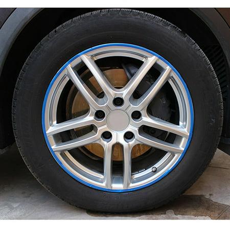 Car Motorcycle Wheel Sticker Reflective Rim Stripe Tape Decal Decor Accessories (Reflective Wheel Stripe)