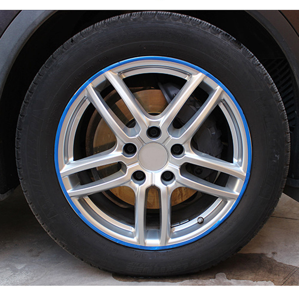 Car Motorcycle Wheel Sticker Reflective Rim Stripe Tape Decal Decor Accessories