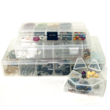 Craft Storage Organizer Bundle 5 PCS Craft Bead School Supply Sewing Art Organizer Containers - Supply Store