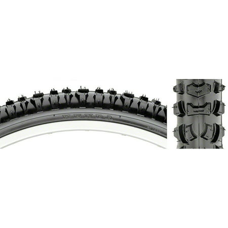 Steel Bike Tire - Kenda Smoke-Style Bike Tire 26x2.1 Black Steel