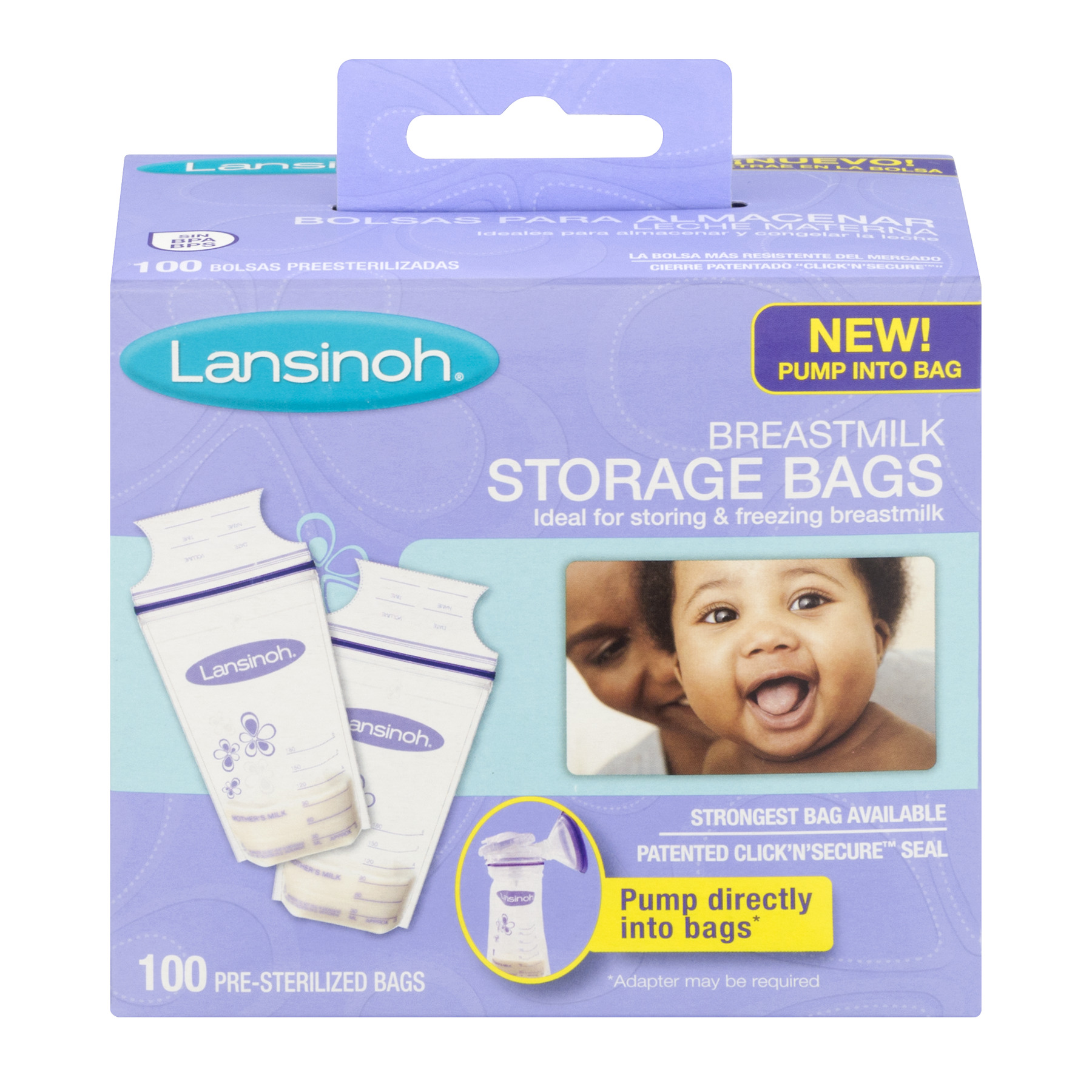 Lansinoh Breastmilk Storage Bags, 100 Count convenient milk storage bags for breastfeeding