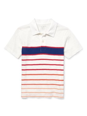 The Children's Place Short Sleeve Striped Polo (Big Boys)