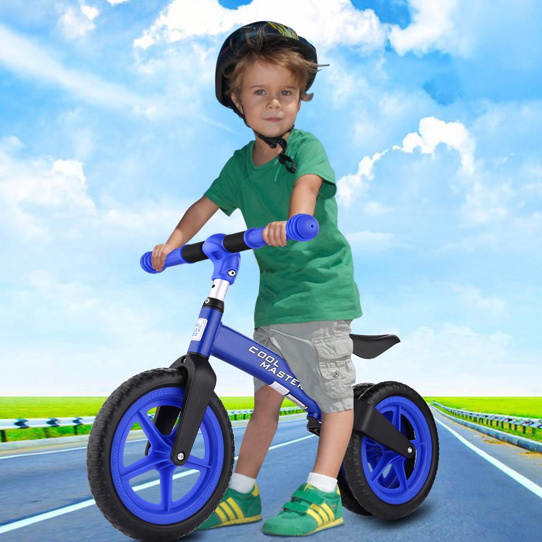 BULES Balance Bike Kids No-Pedal Learn To Ride Pre Bike w/ Adjustable Seat